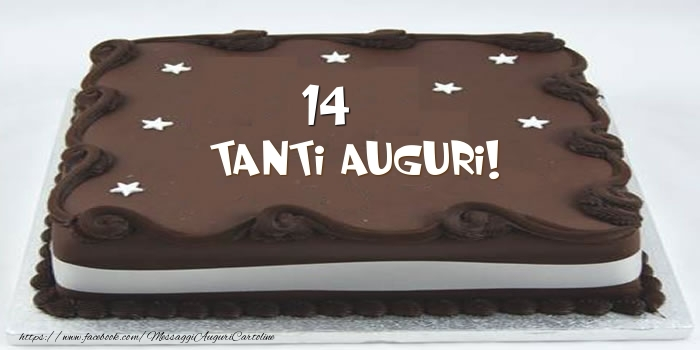 Torta 14 anni Tanti Auguri!