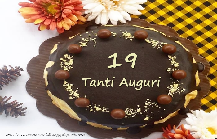 Torta Tanti Auguri 19 anni