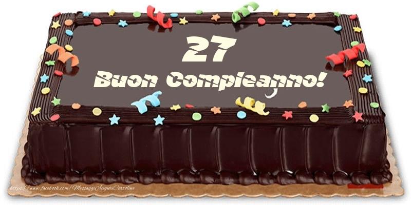 Torta 27 anni Buon Compleanno!