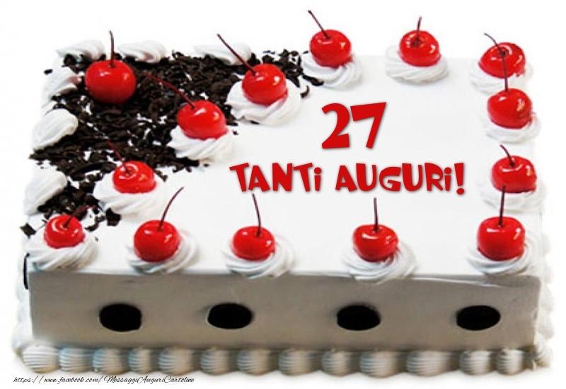 Torta 27 anni Tanti Auguri!