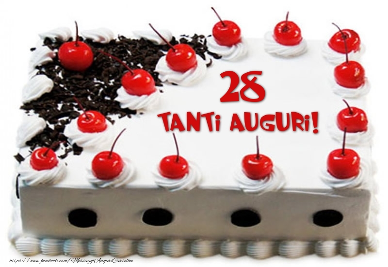 Torta 28 anni Tanti Auguri!