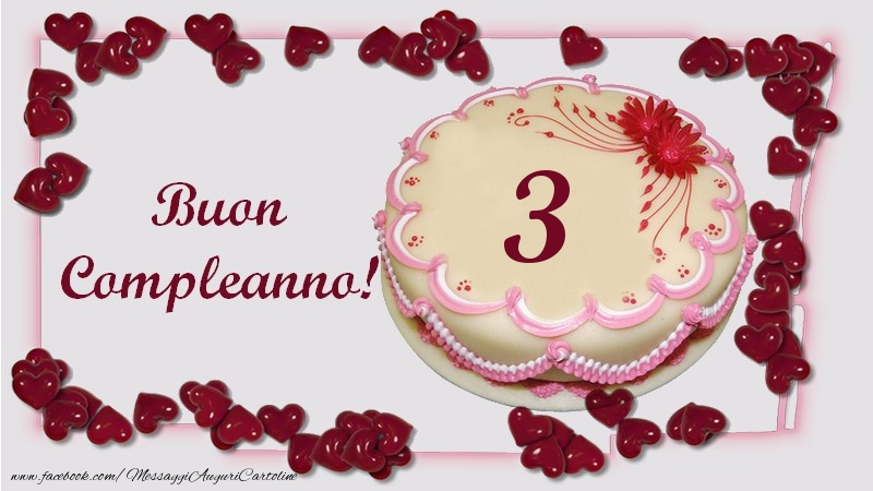 Buon Compleanno! 3 anni