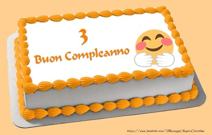 Buon Compleanno 3 anni Torta