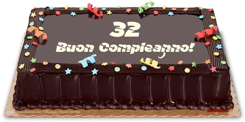 Torta 32 anni Buon Compleanno!