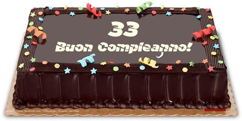 Torta 33 anni Buon Compleanno!