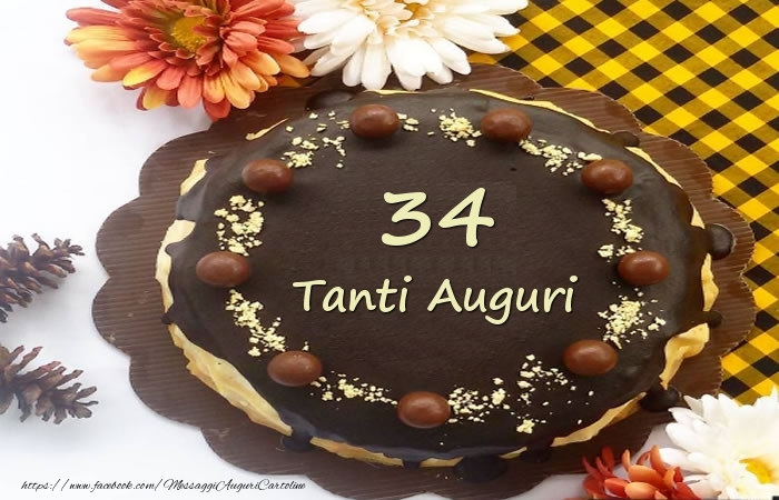 Torta Tanti Auguri 34 anni