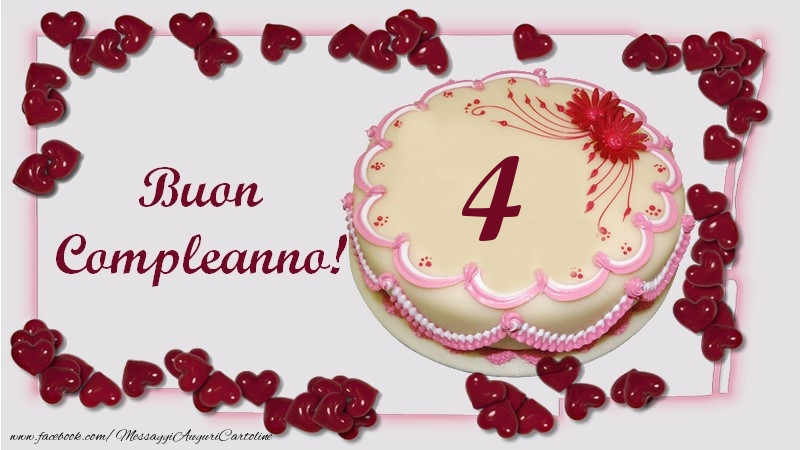Buon Compleanno! 4 anni