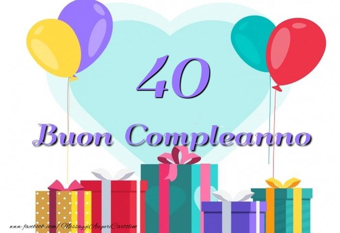 Famoso 40 anni - messaggiauguricartoline.com GU97
