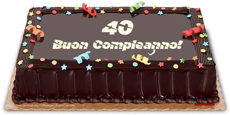 Torta 40 anni Buon Compleanno!