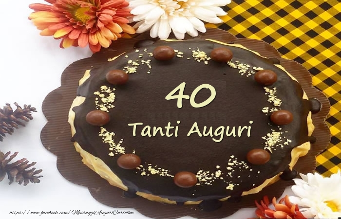 Torta Tanti Auguri 40 anni