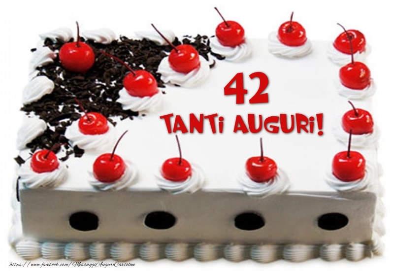 Torta 42 anni Tanti Auguri!