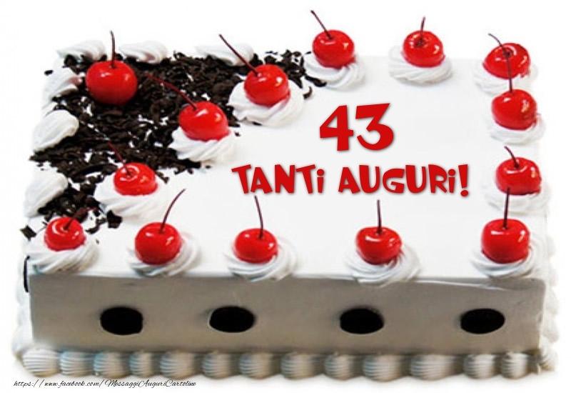 Torta 43 anni Tanti Auguri!