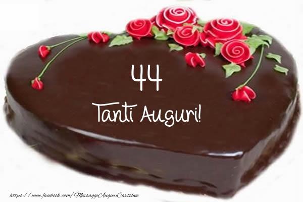 Top Torta 44 anni - Tanti auguri di Buon Compleanno  KT62