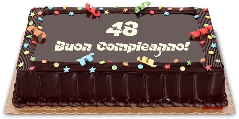 Torta 48 anni Buon Compleanno!