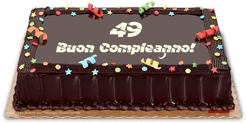 Torta 49 anni Buon Compleanno!
