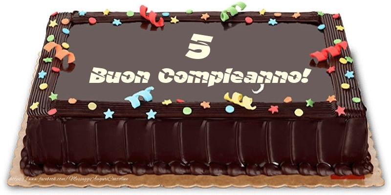 Torta 5 anni Buon Compleanno!