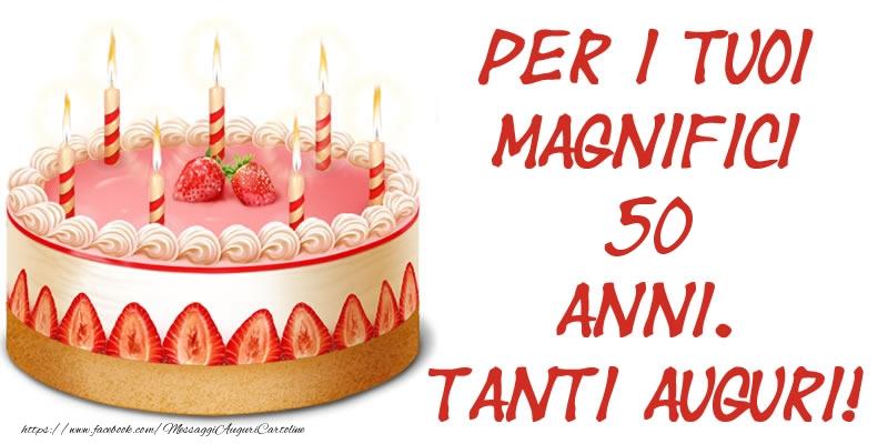 Super Torta 50 anni - Tanti auguri di Buon Compleanno  WV18
