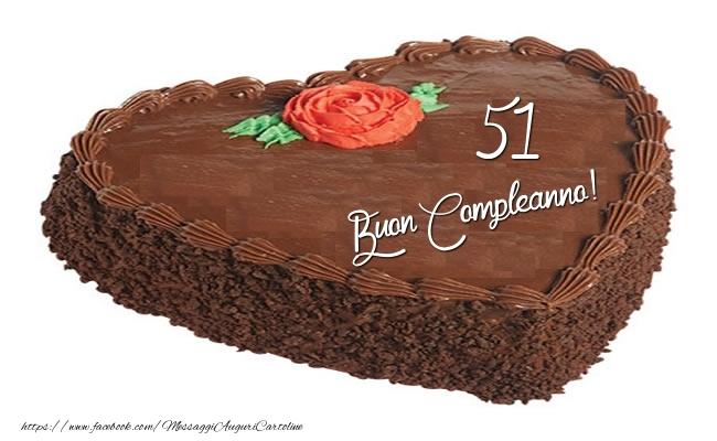 51 Anni Auguri Compleanno Torta Messaggiauguricartoline Com