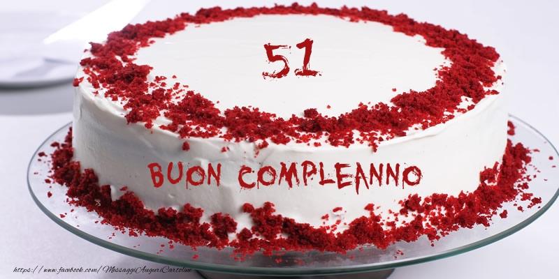 51 Anni Torta Di Compleanno Messaggiauguricartoline Com