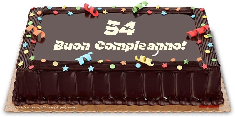 Torta 54 anni Buon Compleanno!