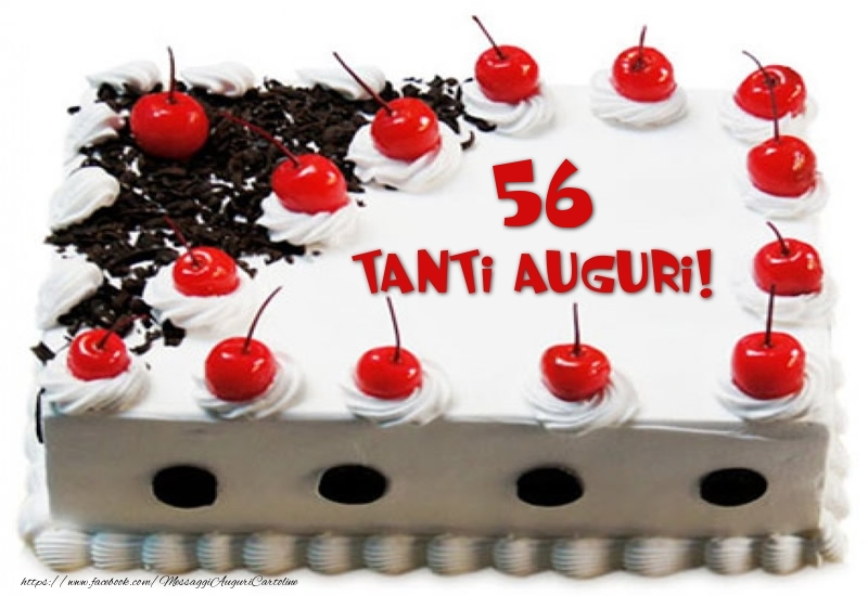 Torta 56 anni Tanti Auguri!