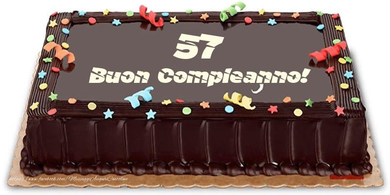 Torta 57 anni Buon Compleanno!