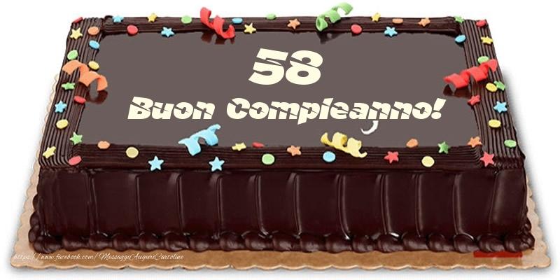 Torta 58 anni Buon Compleanno!