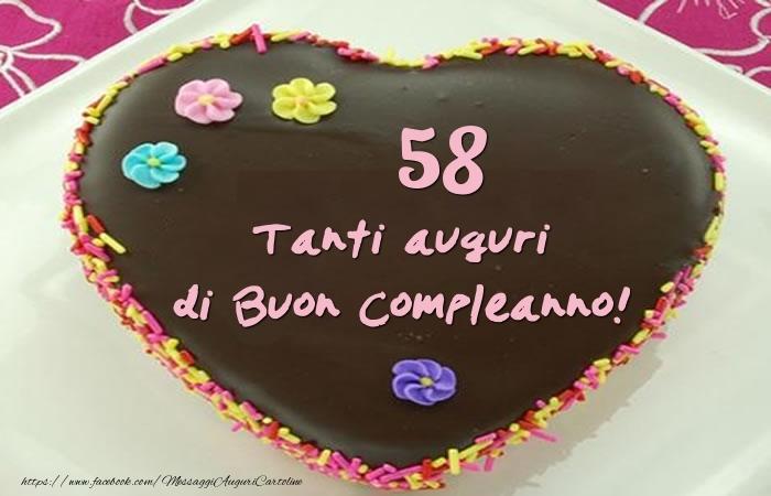 Torta 58 anni - Tanti auguri di Buon Compleanno!