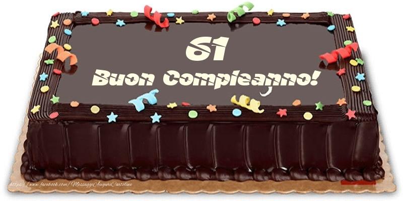 Torta 61 anni Buon Compleanno!