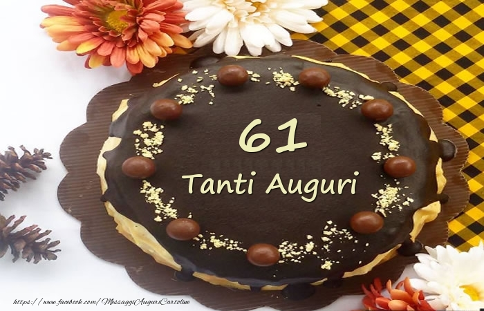 Torta Tanti Auguri 61 anni