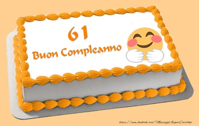 Buon Compleanno 61 anni Torta