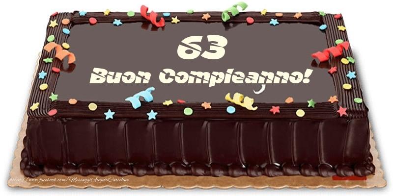 Torta 63 anni Buon Compleanno!