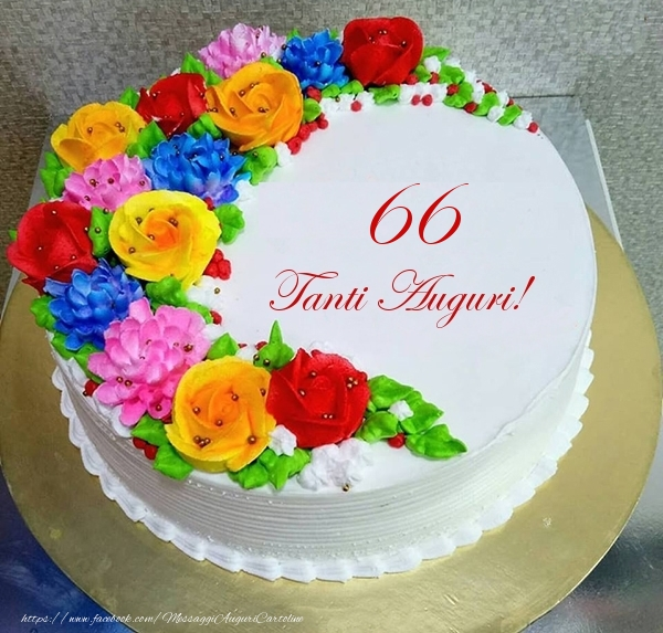 66 anni Tanti Auguri!- Torta