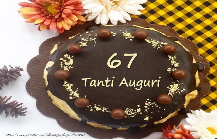 Torta Tanti Auguri 67 anni