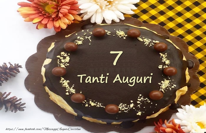 Torta Tanti Auguri 7 anni