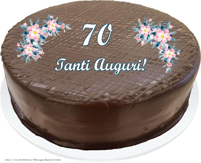 70 anni Tanti Auguri! - Torta al cioccolato