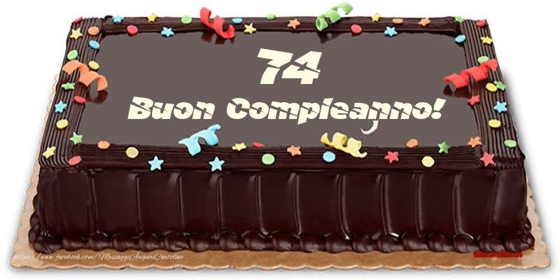 Torta 74 anni Buon Compleanno!