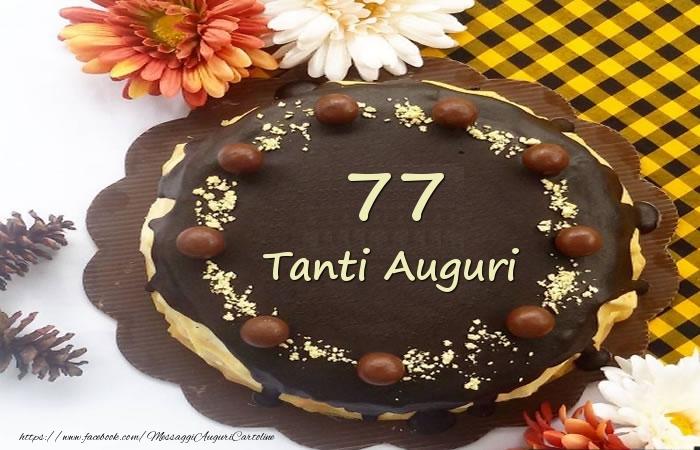 Torta Tanti Auguri 77 anni