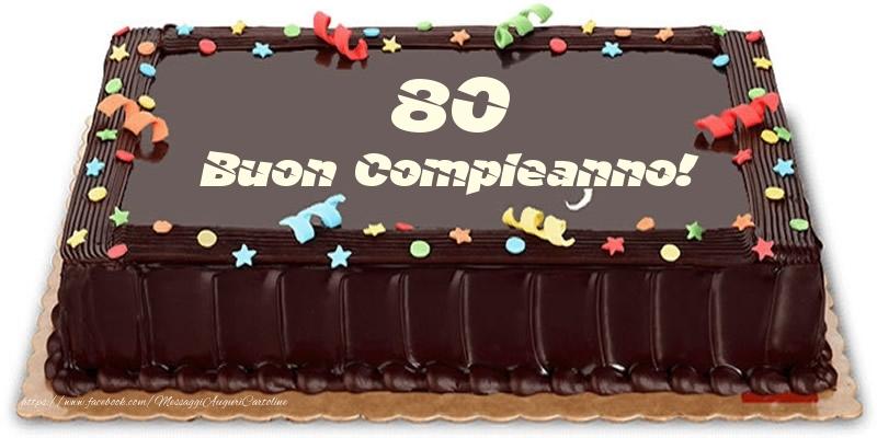 Torta 80 anni Buon Compleanno!