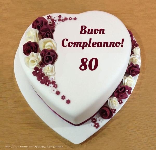 Buon Compleanno 80 anni! - Torta