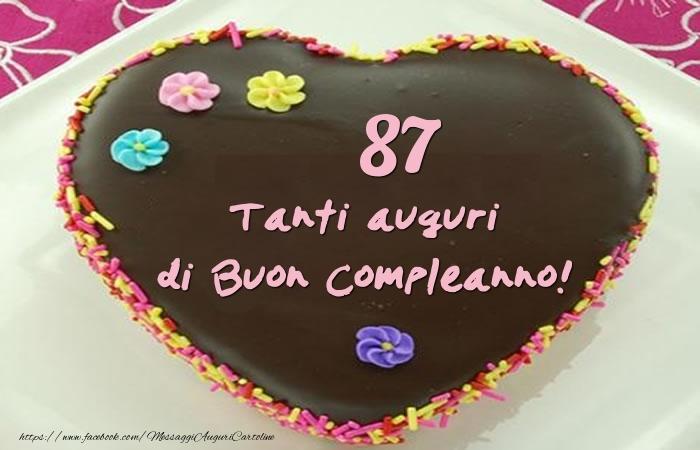 Torta 87 anni - Tanti auguri di Buon Compleanno!