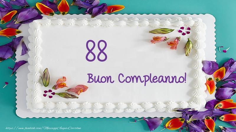 Buon Compleanno 88 anni torta!