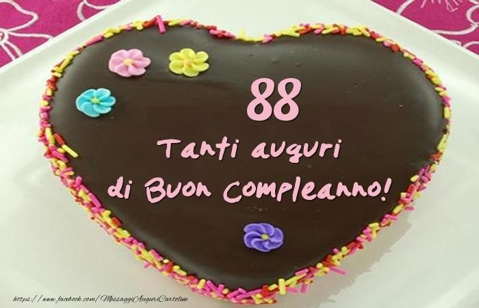 Torta 88 anni - Tanti auguri di Buon Compleanno!