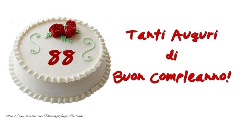 Torta 88 anni Tanti auguri di Buon Compleanno!