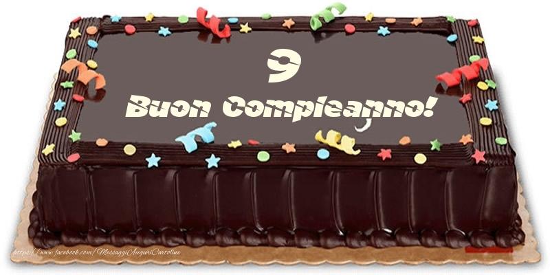 Torta 9 anni Buon Compleanno!