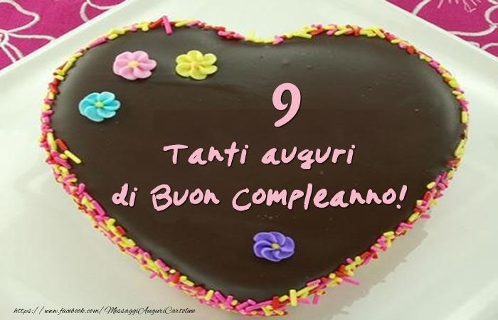 Torta 9 anni - Tanti auguri di Buon Compleanno!