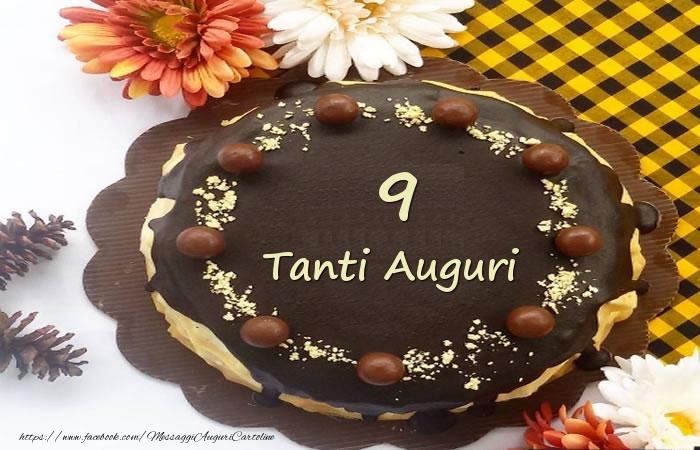 Torta Tanti Auguri 9 anni