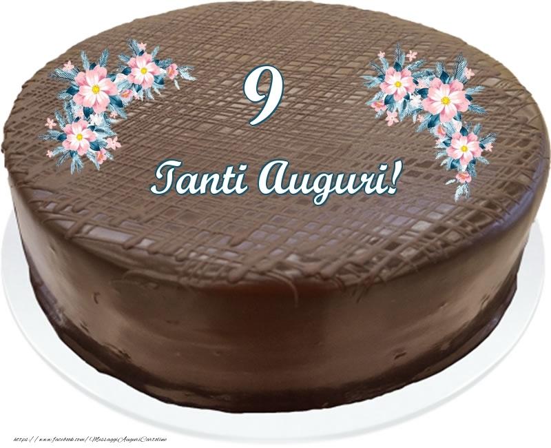 9 anni Tanti Auguri! - Torta al cioccolato