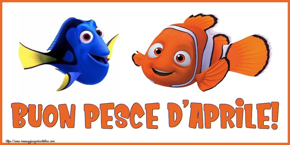 Cartoline per il Pesce d'Aprile - Buon Pesce d'Aprile!