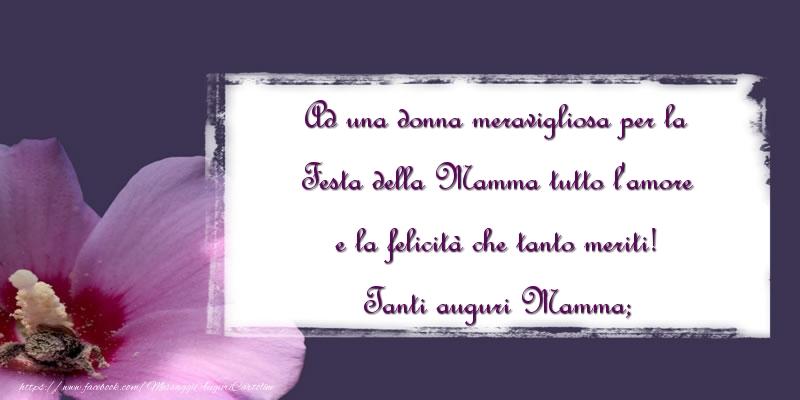 Cartoline di Festa della mamma - Tanti auguri Mamma;